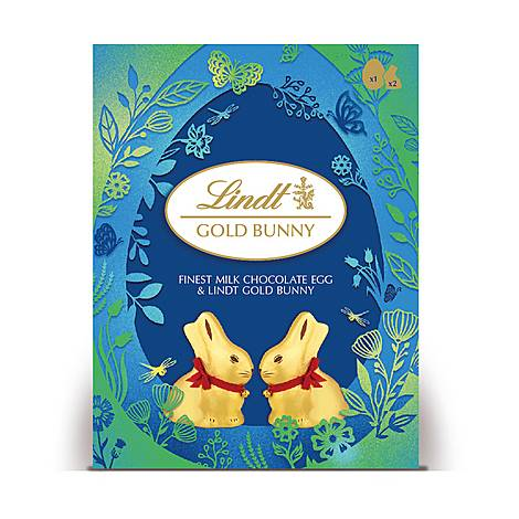 Milk Chocolate Egg & Gold Bunny 195g, ${color}
