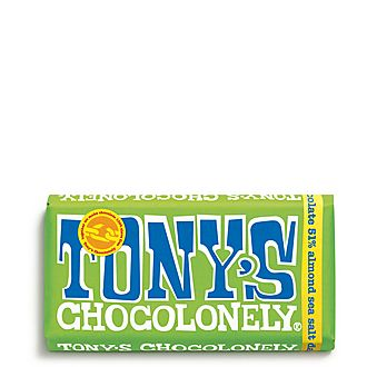 Almond Sea Salt 51% Dark Chocolate Bar