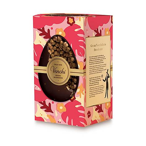 Gourmet Dark Chocolate Hazelnut Easter Egg, ${color}