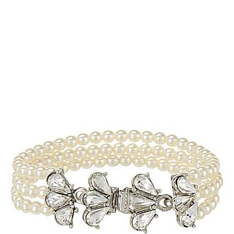 Three Row Pearl Bracelet