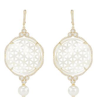Universe Mother Of Pearl Earrings