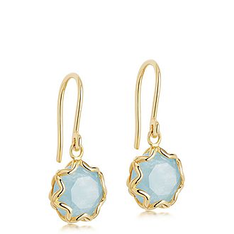 Paloma Aqua Quartz Drop Earrings