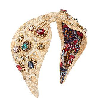 Jacquard Crystal Headband