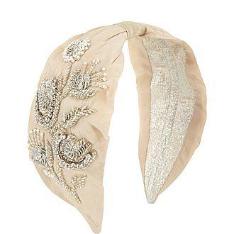 Floral Pearl Wrap Headband