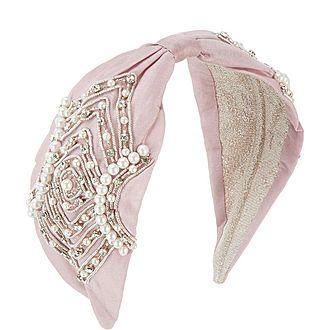 Diamond Faux-Pearl Headband