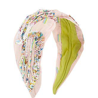 Irridescent Sequin Wrap Headband