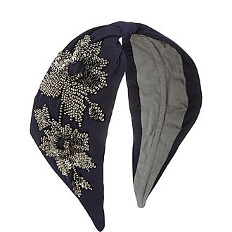 Floral Beaded Headband