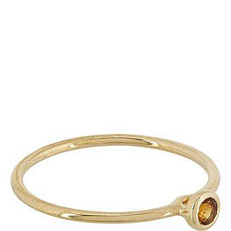 Stack Citrine Round Ring
