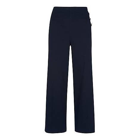 Cadie Side Button Trousers, ${color}