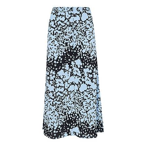 Floral Animal Button Skirt, ${color}