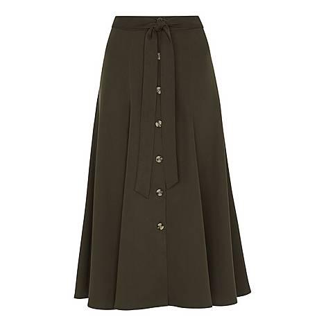 Marissa Button Through Skirt, ${color}