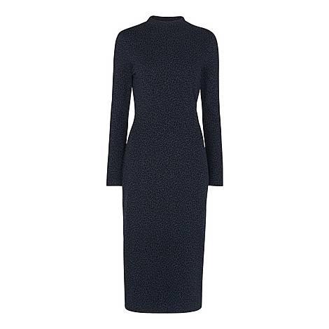 Animal Jacquard Jersey Dress, ${color}