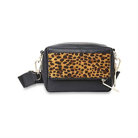 Bibi Leopard Crossbody Bag, ${color}