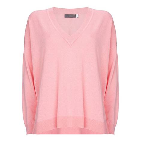 Metallic V-Neck Sweater, ${color}