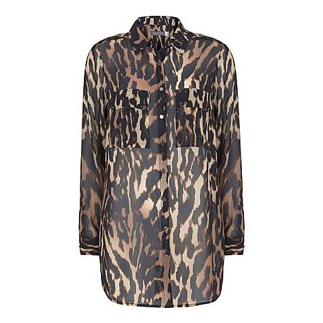 Josie Leopard Print Shirt, ${color}