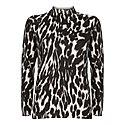 Josie Leopard High-Neck Jumper, ${color}