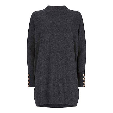High Neck Knitted Tunic, ${color}