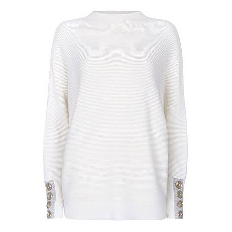 Buttoned Batwing Jumper, ${color}