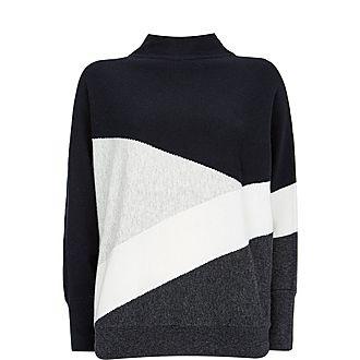 Colourblock Batwing Sweater