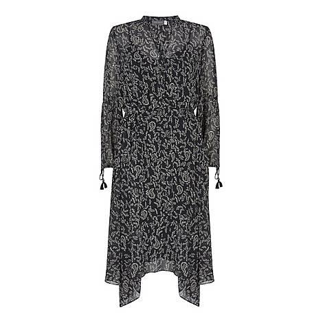 Jessica V-Neck Boho Midi Dress, ${color}