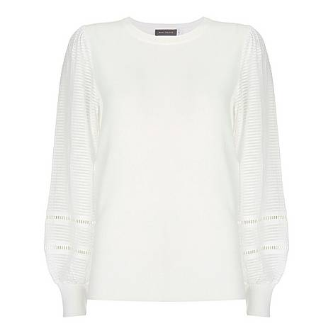 Puff Sleeve Knitted Top, ${color}