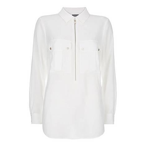 Utility Zip Front Shirt, ${color}