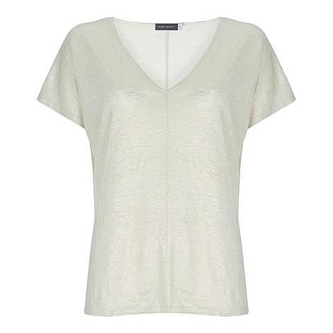 Shimmer Linen T-Shirt, ${color}