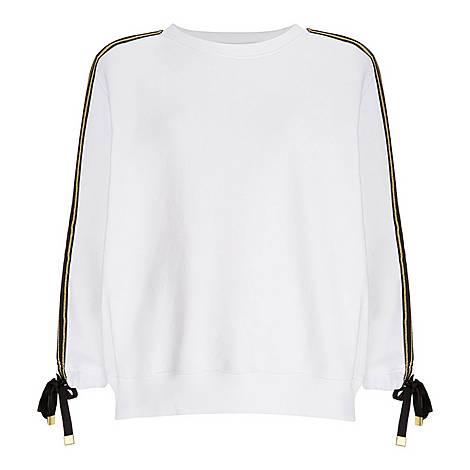 Tie Sleeve Sweatshirt, ${color}