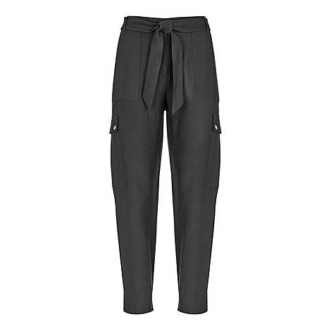 Belted Cargo Trousers, ${color}