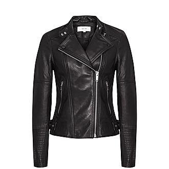Tallis Leather Biker Jacket