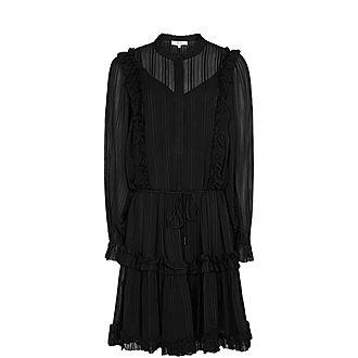 Justina Semi-Sheer Mini Dress