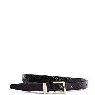 Olive Skinny Belt