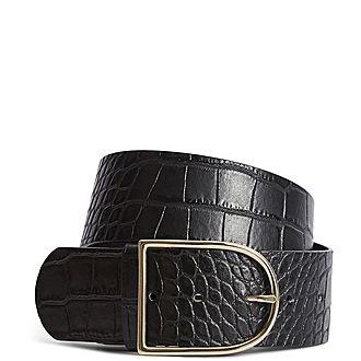 Isabelle Croc-Effect Belt