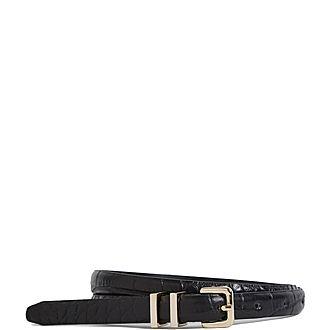 Lauren Leather Skinny Belt