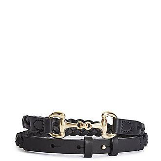 Pippa Leather Plaited Belt