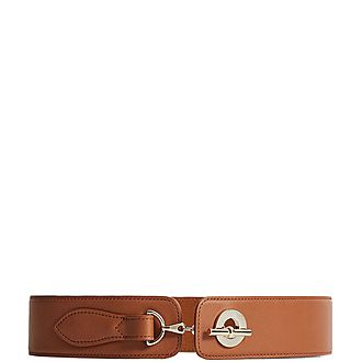 Lavinia Leather Chain Clasp Waist Belt