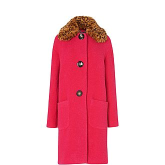 Aster Faux Fur Collared Coat