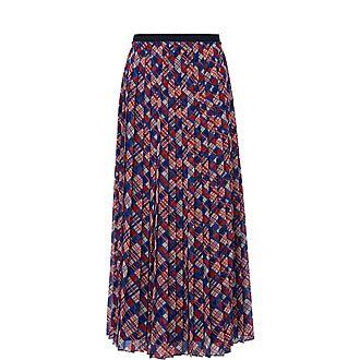 Avery Spot Print Midi Skirt