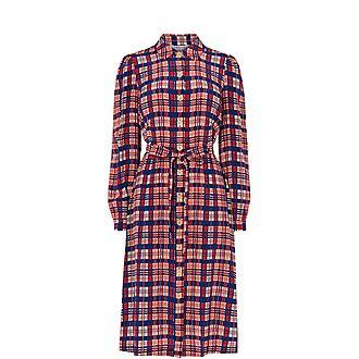 Evelyn Check Dress