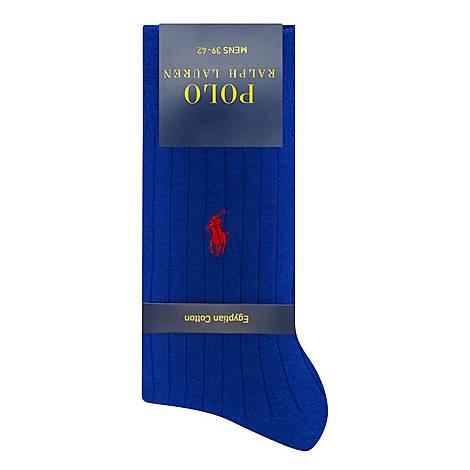 Ribbed Logo Socks, ${color}