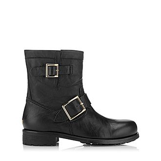 Youth Biker Leather Boots