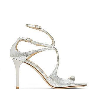 Ivette Glitter Leather Sandals