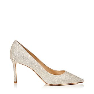 Romy 85 Dusty Glitter Pumps