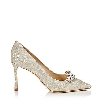 Romy 100 Dusty Glitter Crystal Tiara Pumps