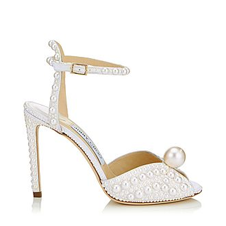 Sacora 100 Pearl Satin Sandals