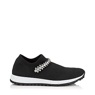 Verona Crystal Detail Knit Trainers