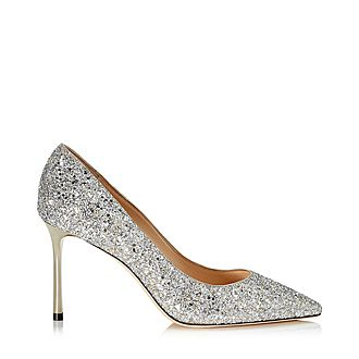Romy 85 Coarse Glitter Pumps