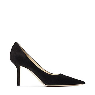 Love 85 JC Emblem Suede Pumps