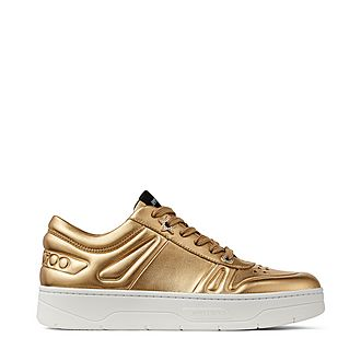 Hawaii Metallic Leather Trainers