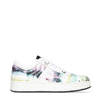 Hawaii Tie-Dye Leather Trainers